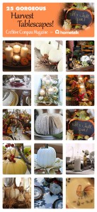 25 Gorgeous Harvest DIY Tablescapes { Wedding Ideas } with Tutorials