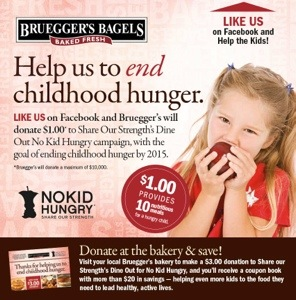 LayoutBruegger's Bagels #NoKidHungry