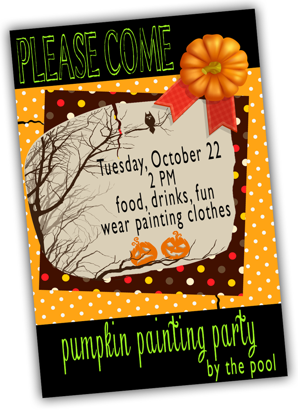 pumpkin-painting-party-invite #shop #SpookyCelebration
