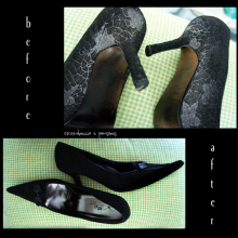 DIY ~ My New Witch's Shoes Transformation, Halloween Decor Vignette 'The Well Collected Home'
