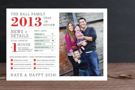 Minted infographic Christmas card