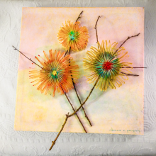 paper-craft-DIY-flowers-canvas