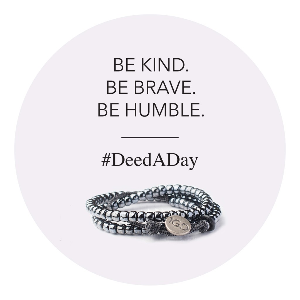 100 Good Deeds Bracelet #DeedADay silver bracelet