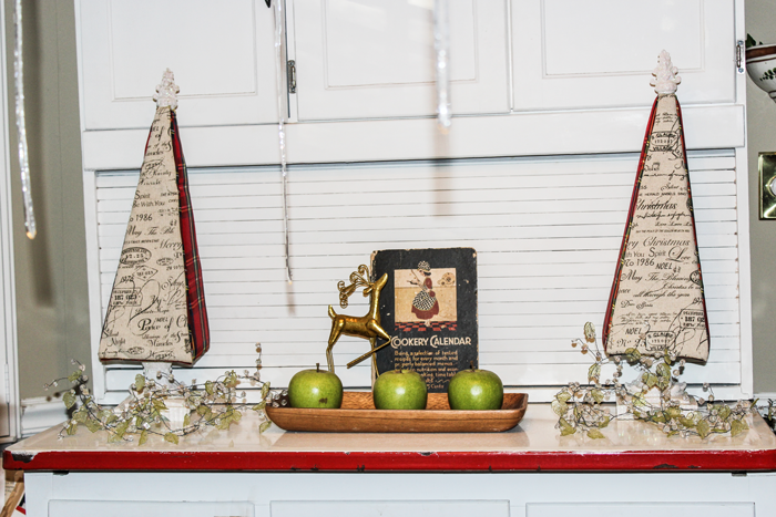 My Breakfast Nook Plaid Christmas Trees #DIY #Decor #Christmas