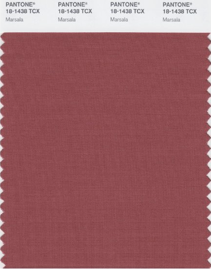 PMS Marsala 2015 Color of the Year