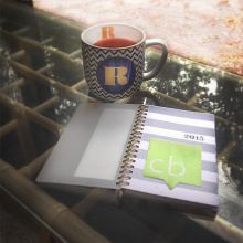 R tea cup and planner for 2015