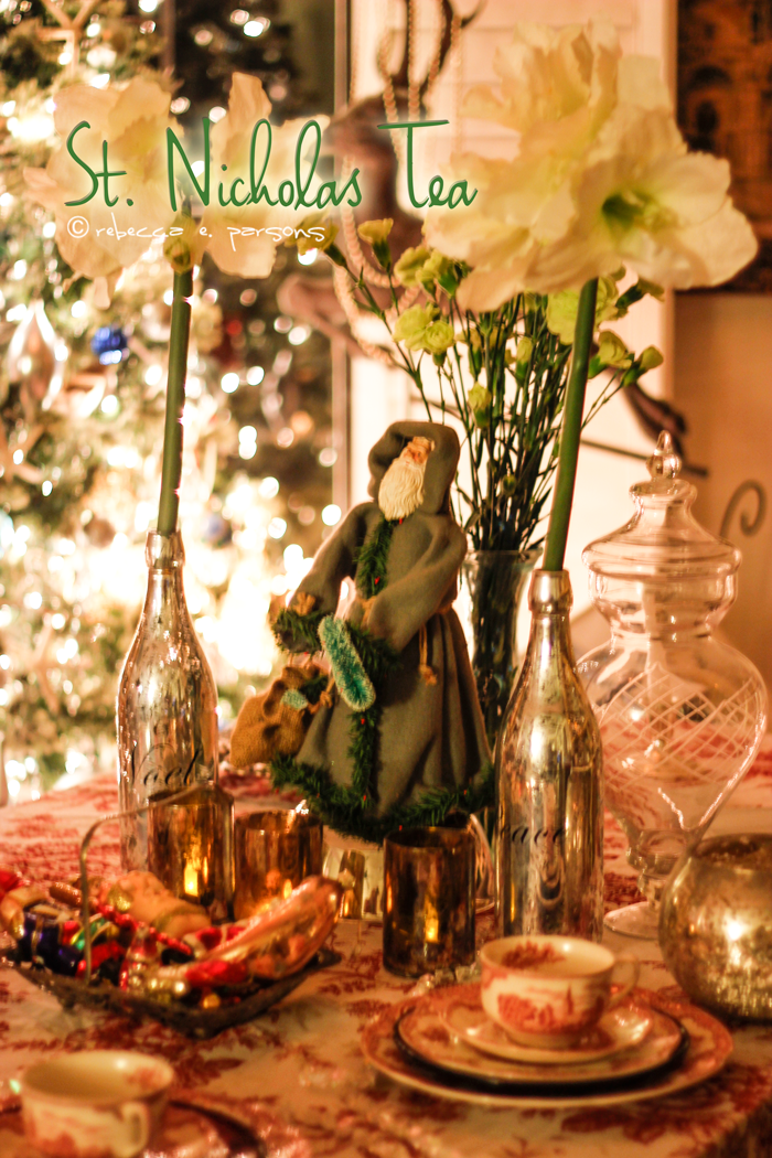 St. Nicholas Victorian Tea Party Tablescape Centerpiece