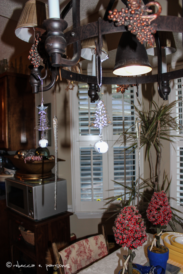 chandelier trees and icicles My Breakfast Nook Christmas Trees #DIY #Decor #Christmas