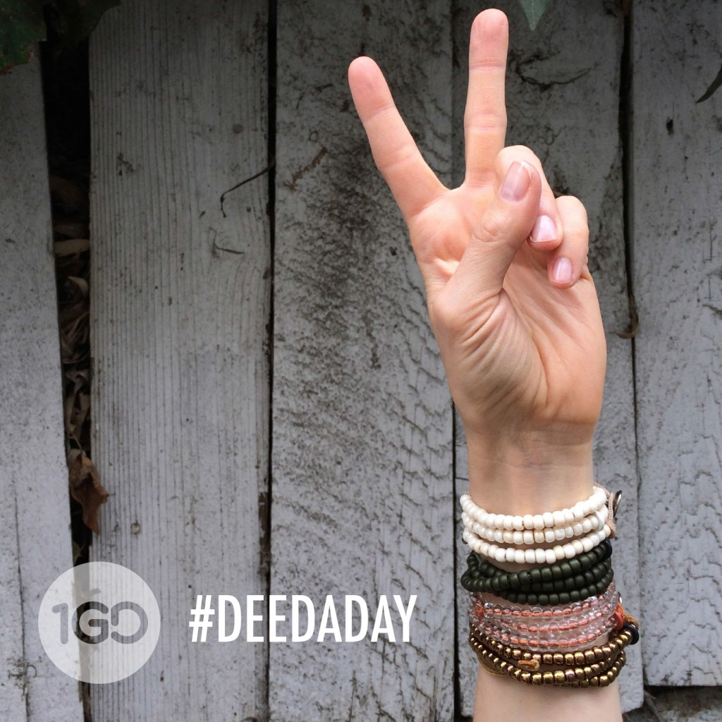 100 Good Deeds Bracelet #DeedADay Peace