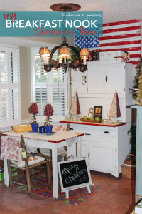 Holiday Home Tour – Breakfast Nook Christmas Trees