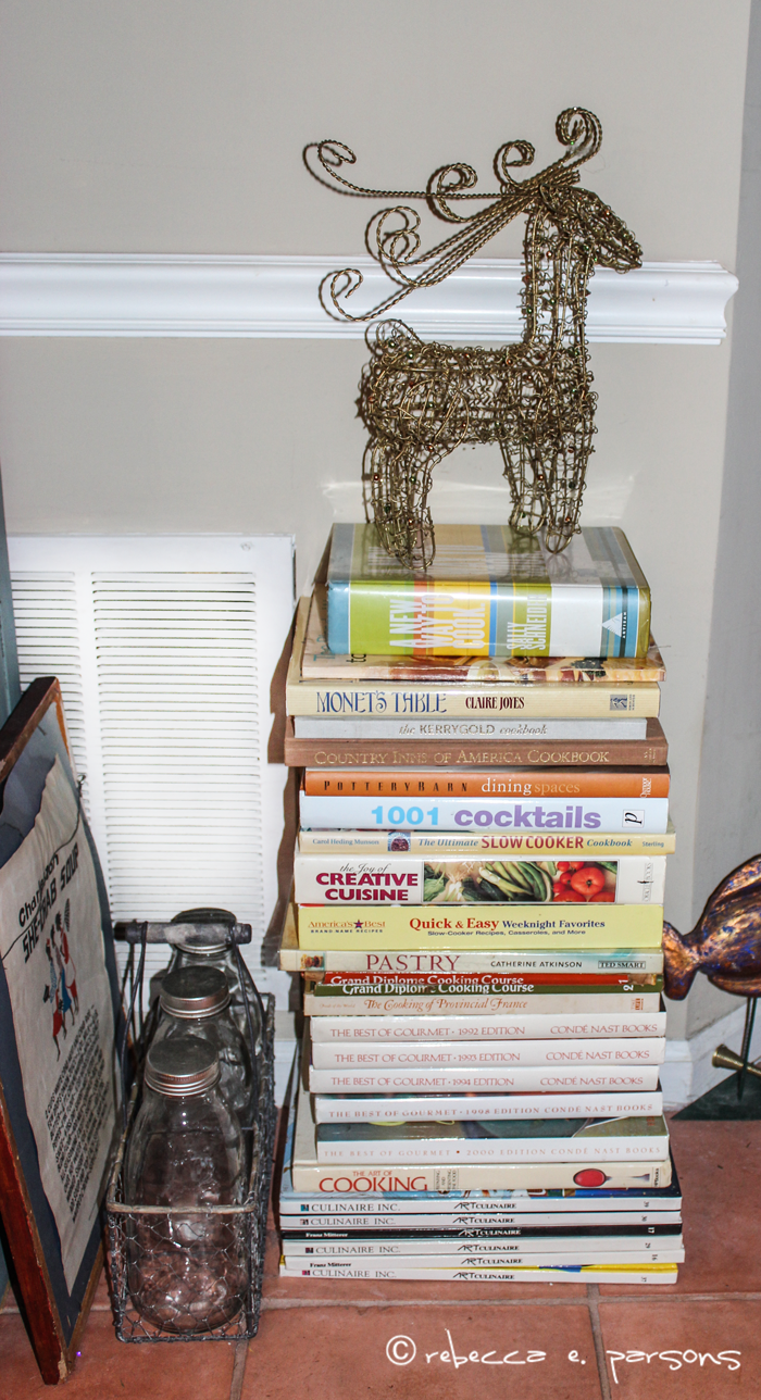 reindeer on cookbooks My Breakfast Nook Christmas Trees #DIY #Decor #Christmas