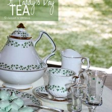 St. Patrick's Day Afternoon Tea Tablescape
