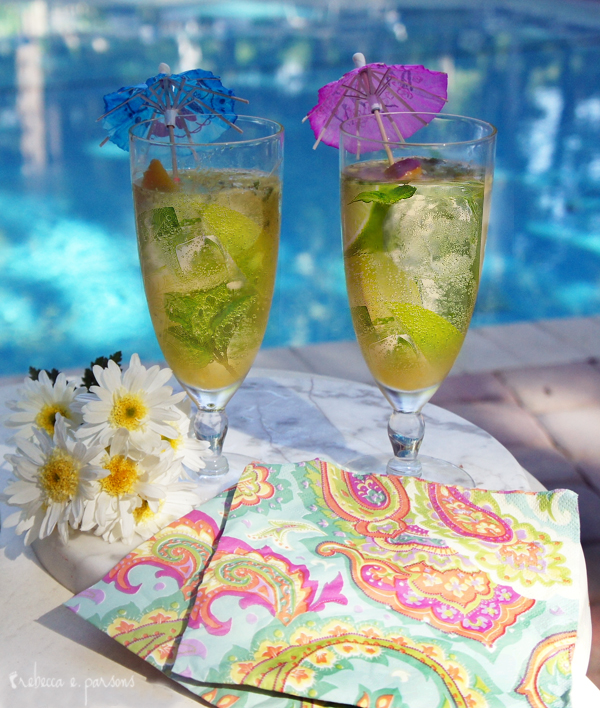 Mother's Day Key Lime Mint Iced Tea