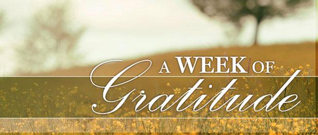 Week of Gratitude May 2015