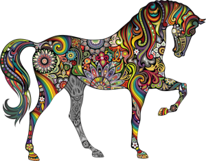 Week of Gratitude ~ My Imagination and the Multi-Colored Horse