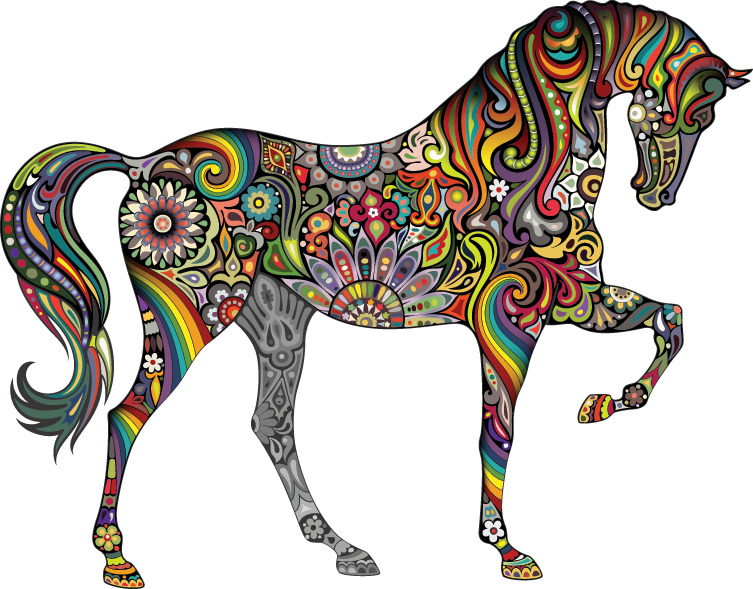 The multi-colored horse of my imagination