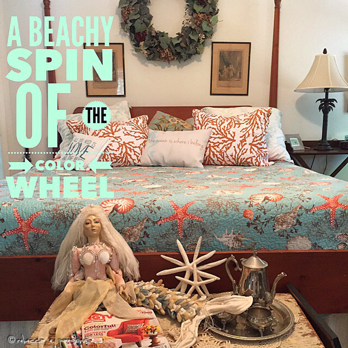 a beachy spin of the color wheel
