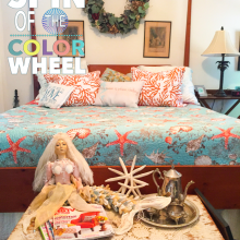 master bed pop of color wheel