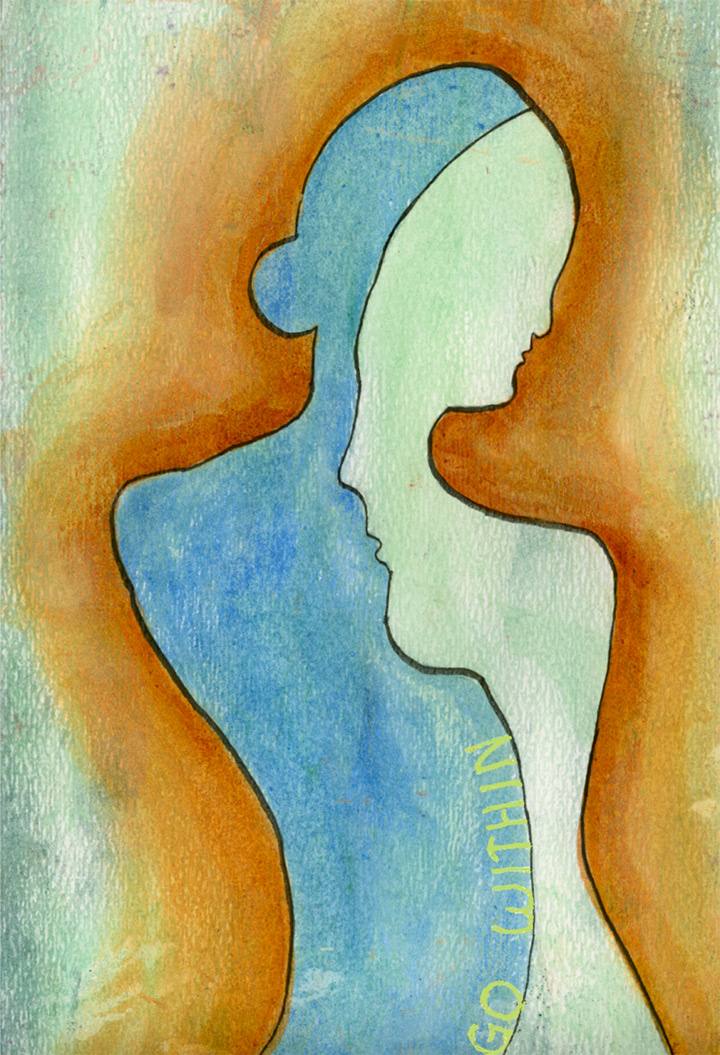 'Go Within' by Rebecca E. Parsons, acrylic on paper, ©2007