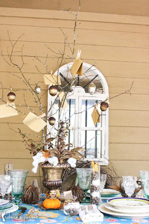 Thanksgiving Table Setting The Grateful Table Grateful tree centerpiece