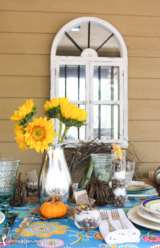 Thanksgiving Table Setting The Grateful Table Sunflower centerpiece