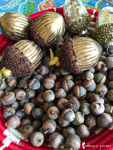Thanksgiving Table Setting The Grateful Table bowl of acorns