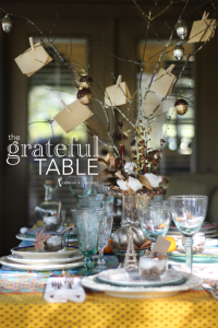 Thanksgiving Table Setting–The Grateful Table