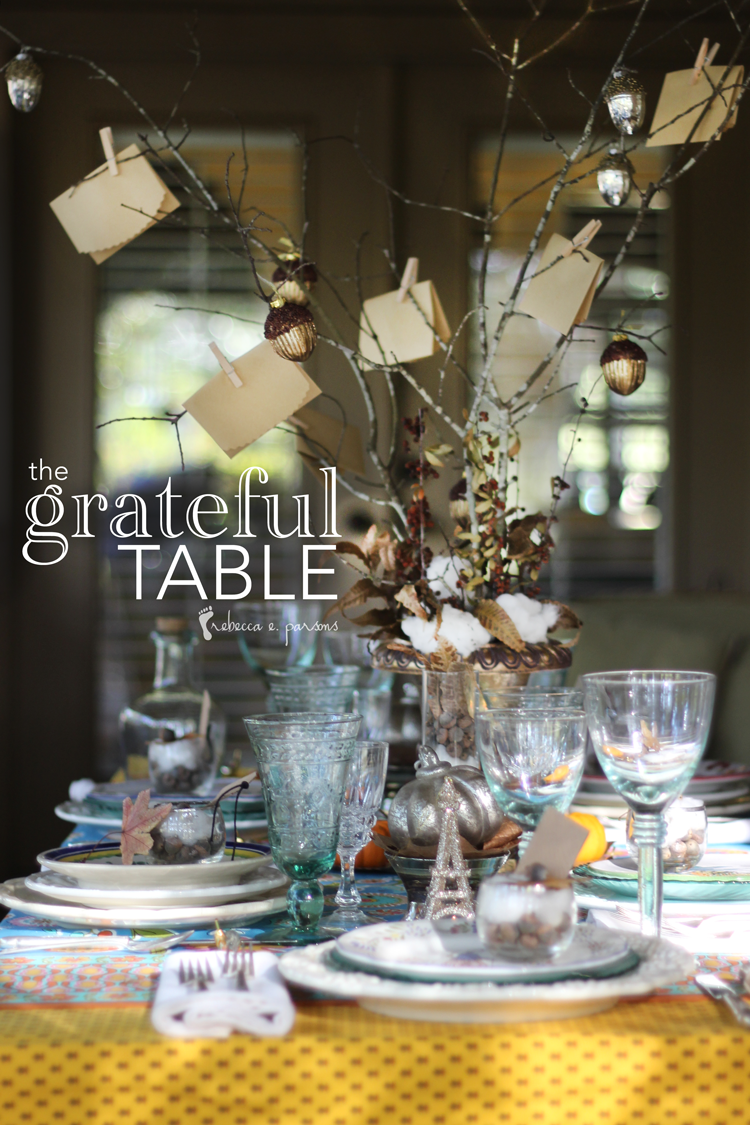 Thanksgiving Table Setting The Grateful Table
