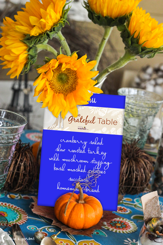 Thanksgiving Table Setting The Grateful Table menu