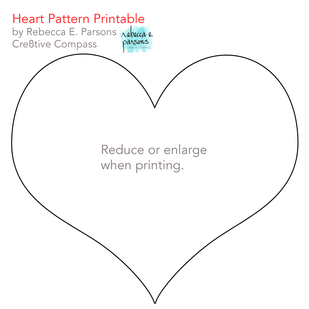 Quick Valentine Craft printable heart pattern