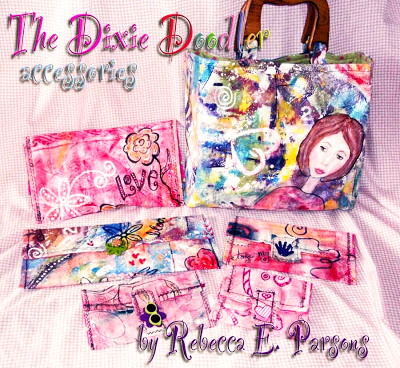 The Dixie Doodler painted purses