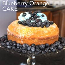 Melt-in-Your-Mouth Gluten Free Blueberry Orange Cake