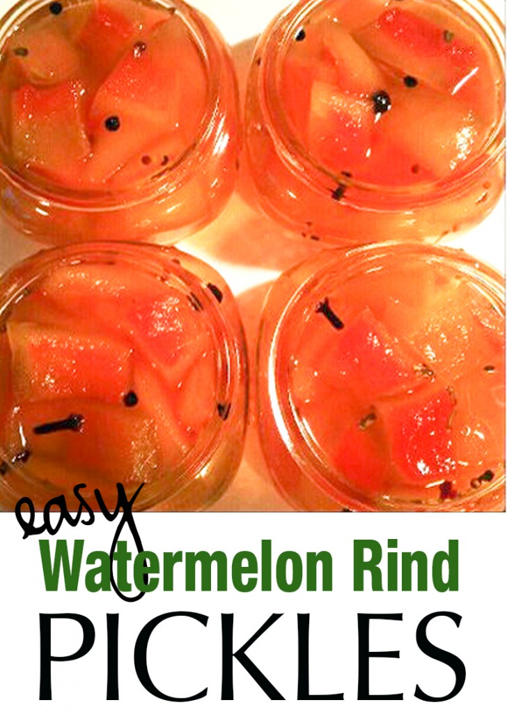 Easy Watermelon Rind Pickles Recipe