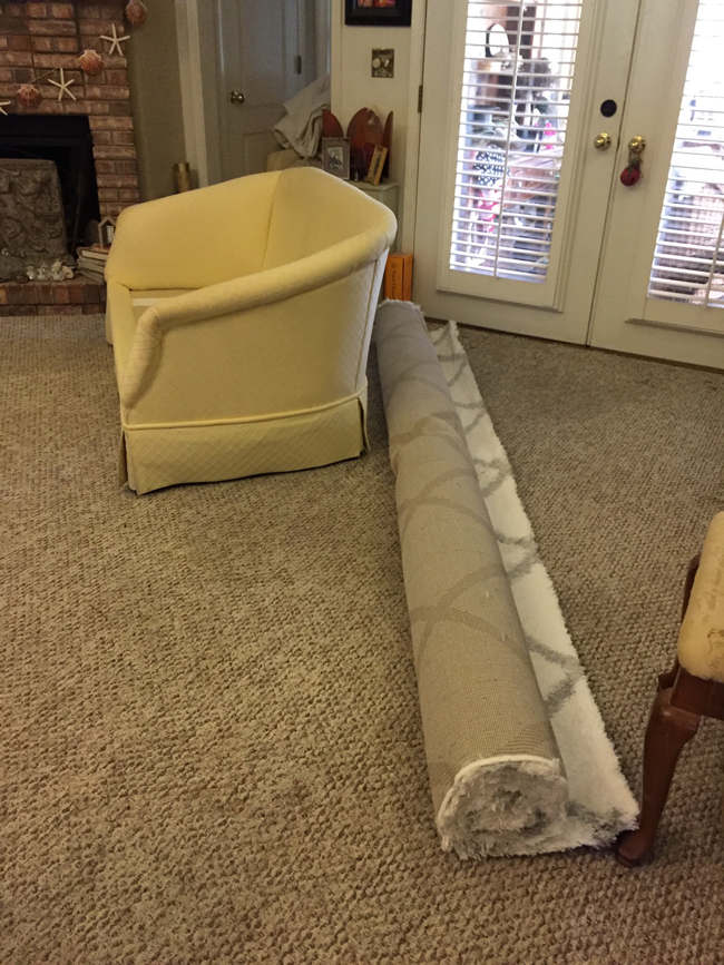 area rug ready-to-roll
