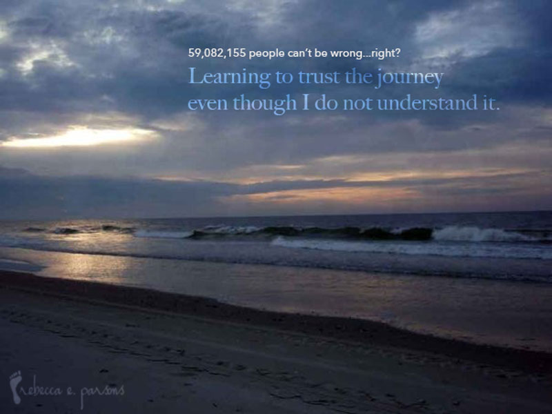 Learning to trust the journey