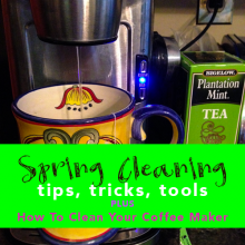 Spring Cleaning Coffee Maker