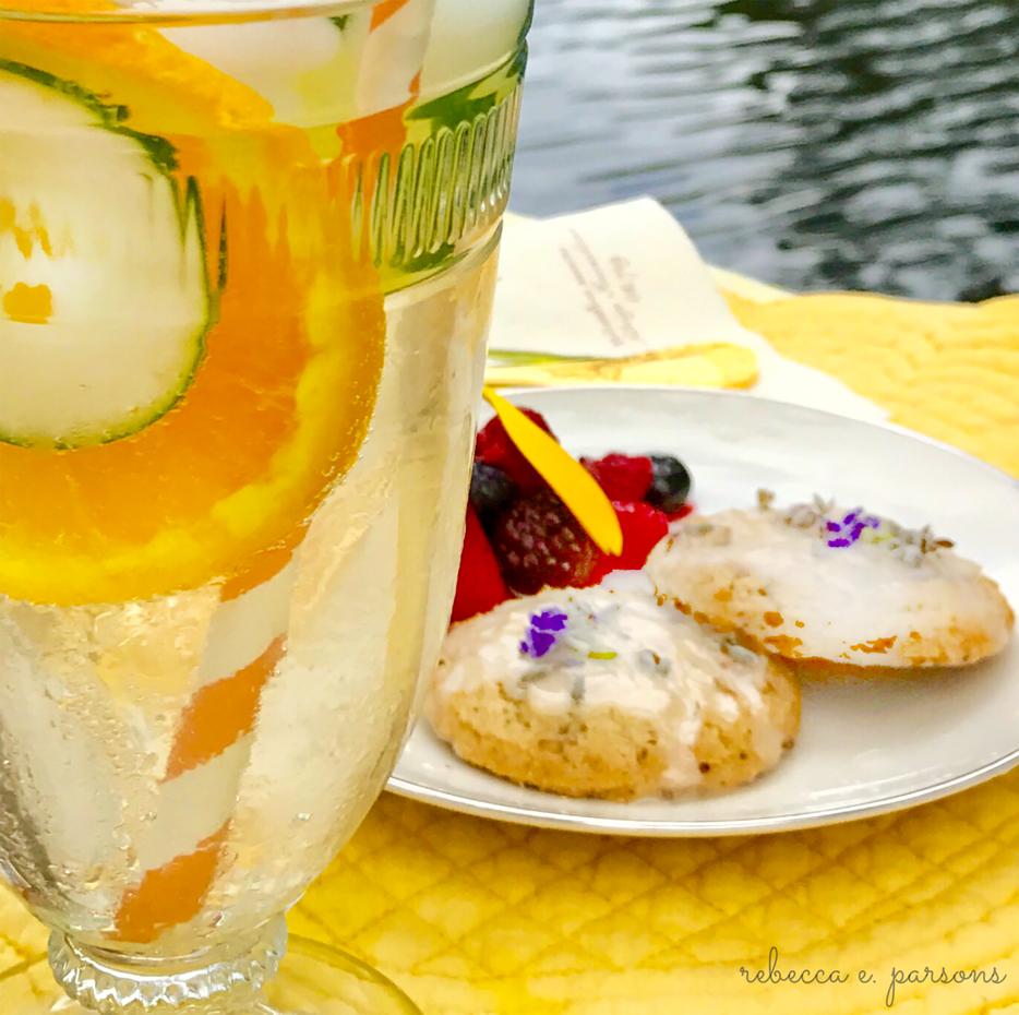 summer solstice fete drink and dessert