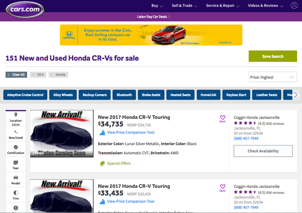 finding a reliable car search cars.com 151