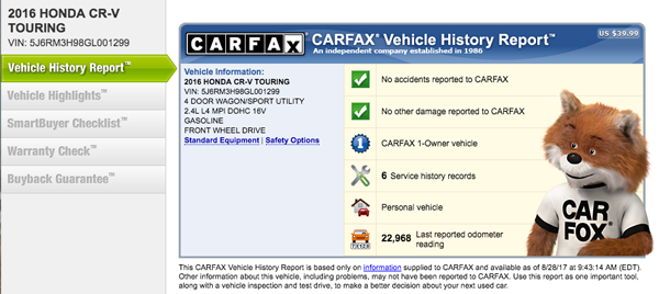 finding a reliable car search cars.com carfax