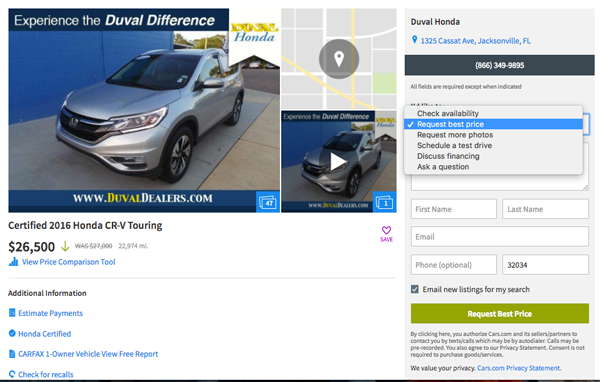 finding a reliable car search cars.com details