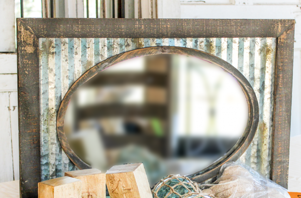 rustic thanksgiving table inspiration mirror