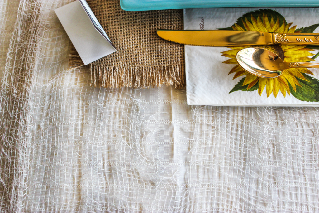 rustic thanksgiving table Creepy Cloth used as tablecloth