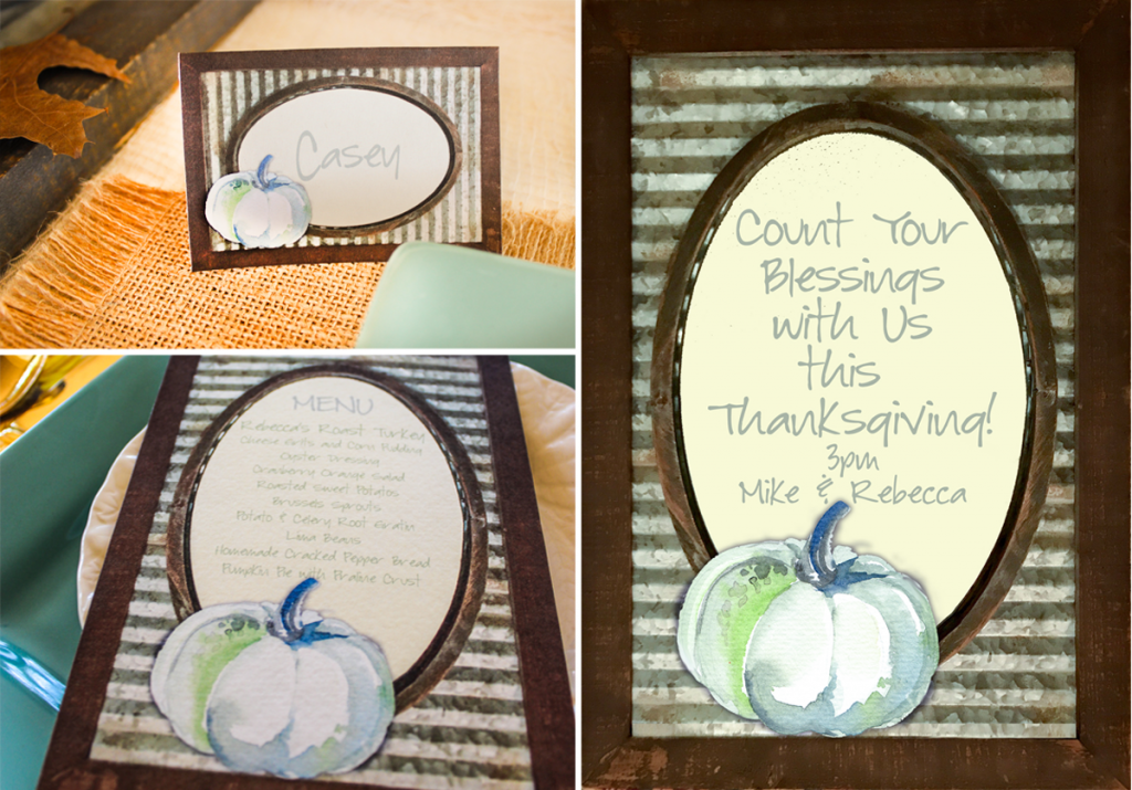 rustic thanksgiving table paper goods
