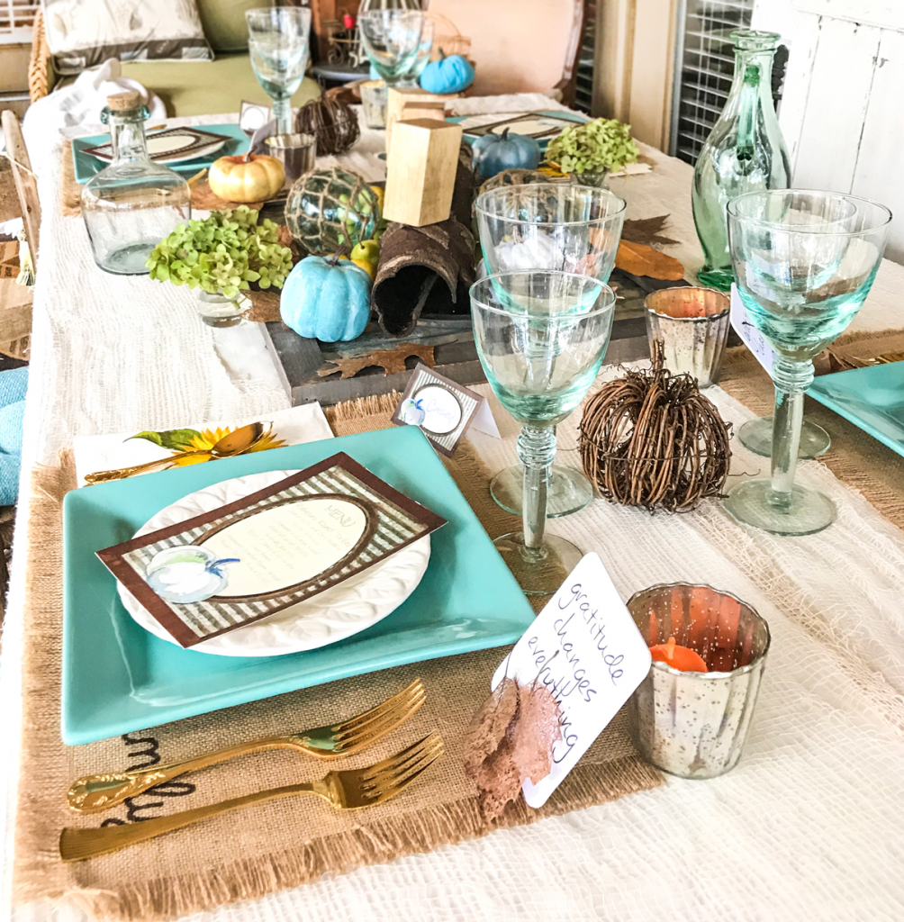 rustic thanksgiving table top