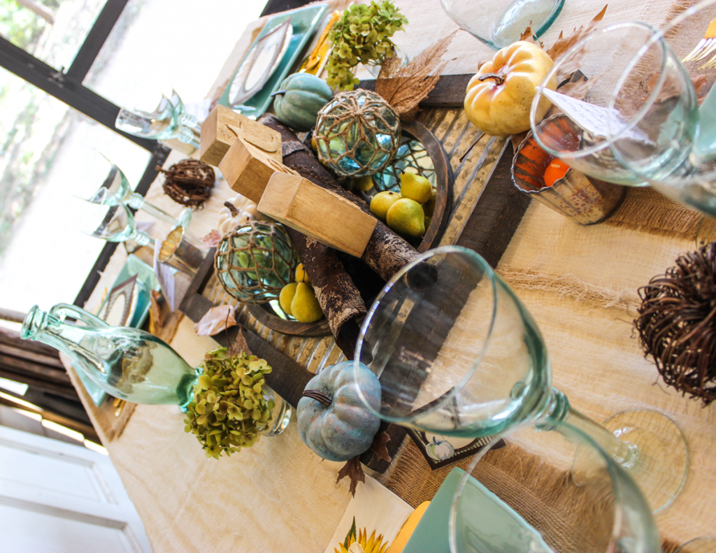 rustic thanksgiving table top decor