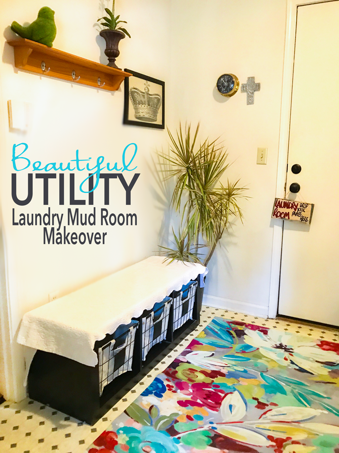 Beautiful Utility Laundry Mud Room Makeover