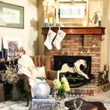 Rustic Beach Christmas Mantle Styling Tips!