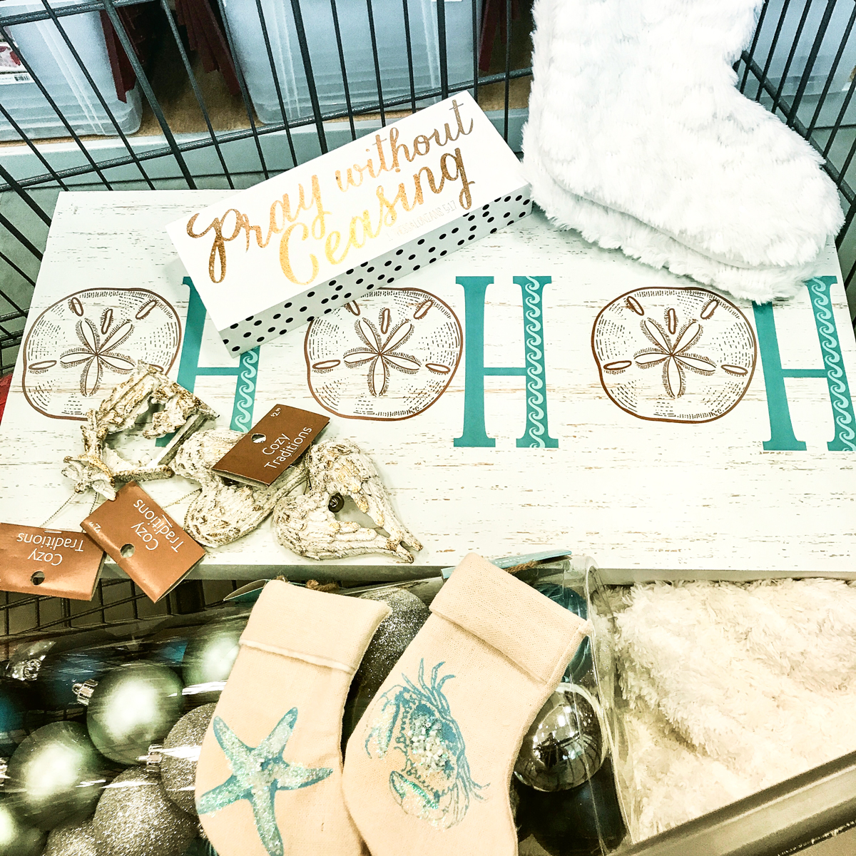 Shopping for Rustic Beach Christmas Mantle