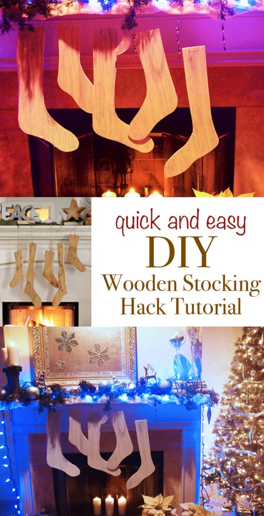 Quick and Easy DIY Faux Wooden Stocking Hack Tutorial