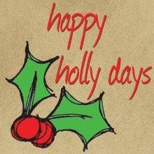 happy holly days gift tag